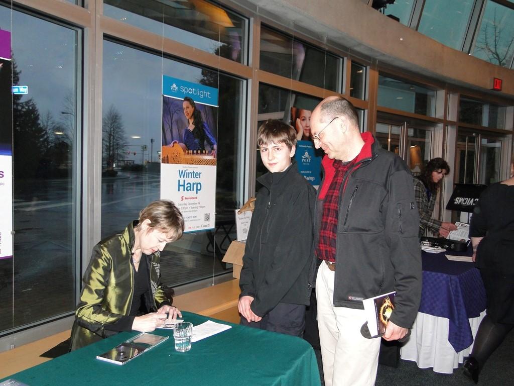 Jane Coop at CD signing